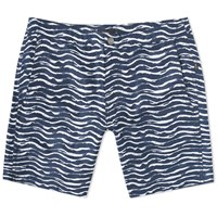 Onia Calder 7.5 Painted Waves Swim Short Blue