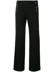 Max And Moi Straight Leg Sailor Trousers Black