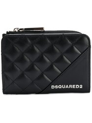 Dsquared2 Mini Icon Zip Wallet Women Calf Leather One Size Black
