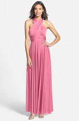 Women's Dessy Collection Convertible Front Twist Jersey Gown Sea Pink