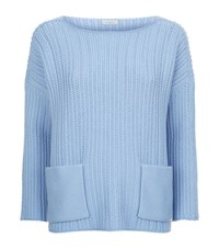 Malo Cashmere Pocket Jumper Female Blue