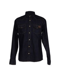 Dickies Denim Shirts Blue