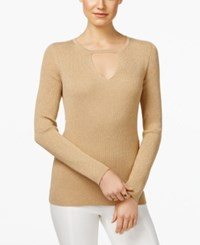Inc International Concepts Keyhole Sweater Only At Macy's Gold