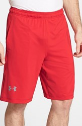 Men's Under Armour 'Raid' Heatgear Loose Fit Athletic Shorts Red Steel