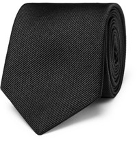 Dolce And Gabbana 6Cm Martini Silk Twill Tie Black