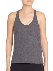 Alo Yoga Cozy Racerback Tank Top Charcoal Heather