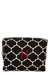 Cathy's Concepts Monogram Cosmetics Case Black H