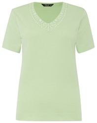 Tigi V Neck Detail Top Lime