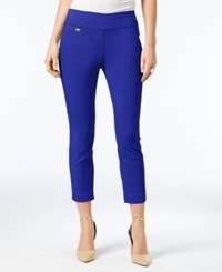Alfani Tummy Control Pull On Capri Pants Only At Macy's Modern Blue