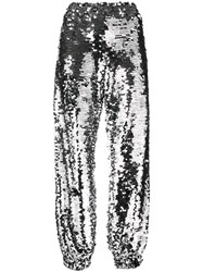 Msgm Sequin Track Pants Metallic