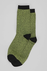 Urban Outfitters Marled Sock Lime