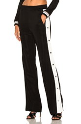 Alessandra Rich Tracksuit Pants In Black White Black White