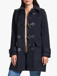 Four Seasons Plain Duffle Coat Navy
