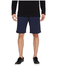 Threads For Thought 4 Feather Fleece Drawstring Shorts Raw Denim Navy
