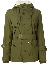 Equipe '70 Hooded Military Jacket Green