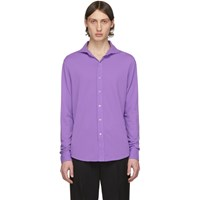 Ralph Lauren Purple Label Pique Long Sleeve Polo
