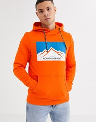 Tom Tailor Printed Hoodie In Orange