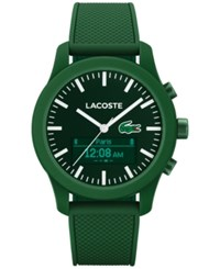 Lacoste Men's Analog Digital L.12.12 Contact Green Rubber Strap Smart Watch 44Mm 2010883