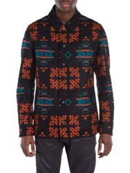 Marcelo Burlon Pendleton Virgin Wool Shirt Jacket Multi