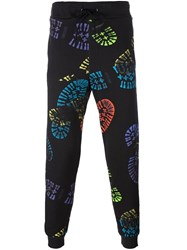 Moschino Boot Print Track Pants Black