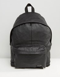 Jack And Jones Backpack In Faux Leather Black