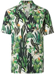 Gieves And Hawkes Short Sleeve Print Shirt Green