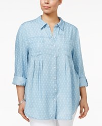 Style And Co Plus Size Denim Shirt Only At Macy's Baby Paisley