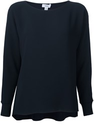 Vince Boat Neck Top Blue