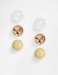 Warehouse Mixed Stud Multipack Earrings