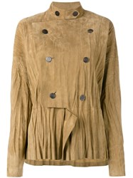 Loewe Military Style Draped Jacket Nude Neutrals