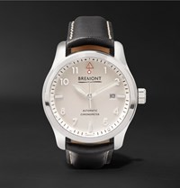 Bremont Solo P W 43Mm Stainless Steel And Leather Automatic Watch White