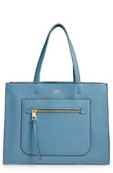 Vince Camuto Elvan Leather Tote Blue Blue Heaven