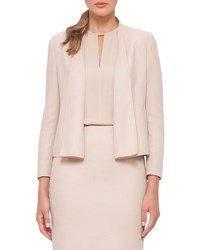 Akris Cropped Double Face Wool Jacket Neutral
