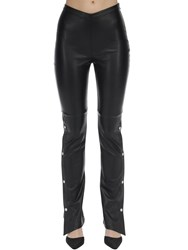 Alexander Wang Stretch Faux Leather Straight Pants Black