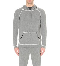 Chinti And Parker Contrast Trim Cashmere Jumper Grey Marl Base
