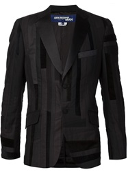 Junya Watanabe Comme Des Garcons Man Stripped Patchwork Blazer Black