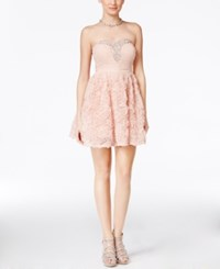 Trixxi Juniors' Strapless Rosette Dress