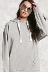 Forever 21 Oversized French Terry Hoodie Heather Grey Onerror Javascript Fnremovedom 'Col