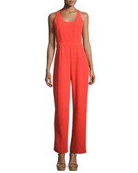 Trina Turk Golda Crepe Sleeveless Jumpsuit Red