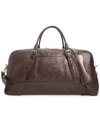 Cole Haan Pebbled Leather Duffle Bag Chocolate