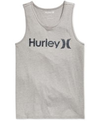 Hurley Men's One And Only Graphic Print Logo Tank Heather Black