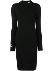 Gcds Fitted Silhouette Dress Black