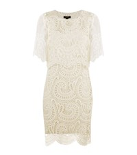 Burberry Runway Layered Macrame Lace Shift Dress Female White
