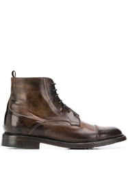 Silvano Sassetti Ankle Lace Up Boots Brown