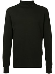 Attachment Roll Neck T Shirt Black