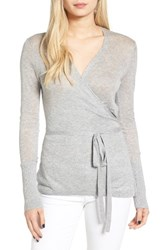 Hinge Women's Wrap Cardigan Grey Heather