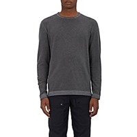Barneys New York French Terry Long Sleeve T Shirt Charcoal