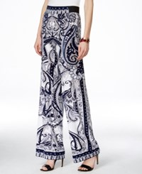 Inc International Concepts Petite Printed Wide Leg Pants Only At Macy's