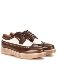 Church's Opal Leather Platform Brogues Brown