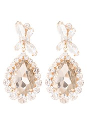 Sweet Deluxe Princess Earrings Goldcoloured Topaz Crystal